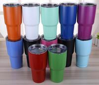 30oz coloré Tumbler Rambler Tasses Coolers Cup 30 oz Sports Mugs Tasse de voyage en acier inoxydable de grande capacité