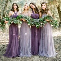 New Arrival Convertible Long Bridesmaid Dresses Tulle 2017 H...