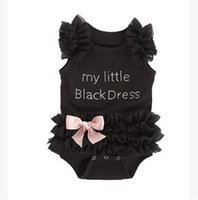 Ins Lace Baby Romper 2017 Summer My Little Black Dress Baby ...