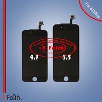 Pour iPhone 6 iPhone 6 Plus Affichage LCD noir avec numériseur à écran tactile complet Livraison gratuite
