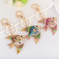 Bling Bling Crystal Rhinestone Lovely Tropical Fish Metal Ke...