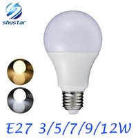 E27 3W 5W 7W 9W 12W 220V 110V Real Watt LED Bulb Light SMD57...