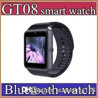 40X Best Quality Bluetooth Smart Watch GT08For Android IOS iPhone Support de poignet Synchronisation SIM / TF Card Camera Podomètre Surveillance du sommeil C-BS