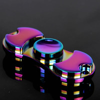 Rainbow Fidget Spinner Colorful EDC Gyro Toys Hand Spinner Fidget Aluminium Fidget HandSpinner Professional Factory Ventes directes