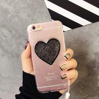For iPhone 7 Case Glitter Bling Cute Lover Heart Transparent...