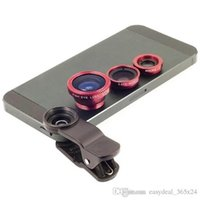 3 en 1 Clip-On universel fish eye + objectif grand angle + macro pour iphone 7 plus samsung S6 S7 edge note 3 4