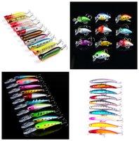 10- color Plastic Hard Baits Lures Hook Fishhooks 3D Minnow F...