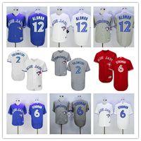 Stitched Men Toronto Blue Jays #2 Troy Tulowitzki Blue #6 Ma...