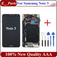 1Pcs Pour Samsung Galaxy Note 3 N9005 Affichage LCD Numériseur à écran tactile avec cadre cadre Assemblage Livraison gratuite avec des outils ouverts