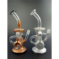 New Luxury Two Function Glass Bongs Double Recycler 14. 5mm J...