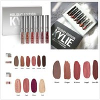 Kylie Mini Kit HOLIDAY Edition 6Pcs KIT LÁPICES LÍQUIDOS MATERIALES GLOSS lápices labiales matte lipstick collection set Christmas edition