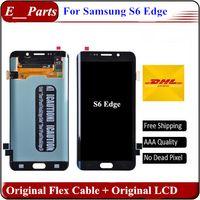 Original qualité AAA pour Samsung Galaxy S6 Edge LCD G925 G925F G925I G925P Lcd numériseur Displaiy Screen Assembly rapide Livraison gratuite