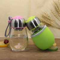 Creative 400ML Glass Water Bottle With Tea Infuser Gift Bag ...