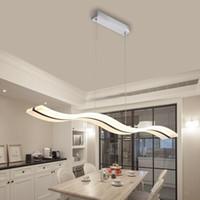Современные творческие люстры 38W белый Акриловые подвеска лампа для Столовая Спальня Studyroom Люстра огни 110V 220V белый / теплый белый