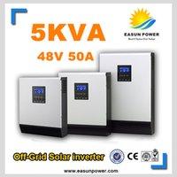 Горячее надувательство солнечного инвертора 5Kva 4000W с инвертора сетки 48V к инверторам 220V 50A PWM Чисто инвертор синуса гибридный инвертор 60A заряжатель AC