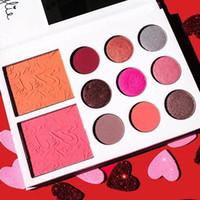 Gama de colores 2017 de la colección de la tarjeta del día de San Valentín de Kyshadow 11color ¡Regalo del día de tarjeta del día de San Valentín de Kylie Jenner! Envío libre DHL