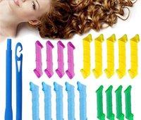 Роликовые 18pcs DIY Магия Удивительные Leverag бигуди Curlformers пластиковые для волос 2pcs Крючки для укладки волос Инструменты 50 Set
