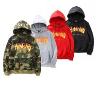 Thrasher hoodie sweatshirt camouflage hoodies homens mulheres hip hop streetwear bts suor palácio veste suprem trasher hoodie