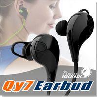 Sport Casque Bluetooth QCY QY7 Casque stéréo sans fil Mini écouteur Bluetooth avec micro mains libres pour iPhone 7 Plus avec boîte de détail