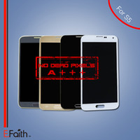 Vente en gros-Pour nouvelle marque Samsung Galaxy S5 i9600 écran LCD avec écran tactile Digitizer Assemblée livraison gratuite