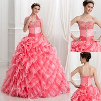 Luxury Custom Made Quinceanera Dresses 2017 Ball Gown Sweeth...
