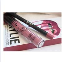 Kylie kit de labios Lip Gloss Lipkit 1 Lápiz labial + 1 Lápiz labial Kylie set Kylie Jenner lápiz labial mate brillante labial largo 28colors