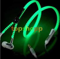 Zipper LED Earphone Light up Luminous Wired Control Lighting...