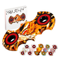 Camuflagem Leopard Batman Mão Spinner ABS Fingertips Espiral Dedos Gyro Torqbar Fidget Spinner Com Retail Box 300pcs OOA1450