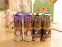 240set lot DIY Cute Kawaii Wooden Colored Pencil HB Wood Col...