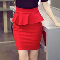 Plus Size Women Pencil Skirts Ruffles Summer Fashion Korean ...