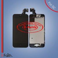 Pour l'iPhone 5C Grade A +++ Complet Complet noir écran LCD Front Display Digitizer Assemblage avec accessoires Livraison gratuite