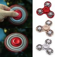 2017 Hand Spinner Finger Toys pour Fidget Spinner Three Head Metal Avec tour Bead Gyro Decompression Anxiety Toys Avec Paquet DHL OTH435