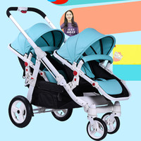 Motherknows twins baby stroller trolley front and rear light...