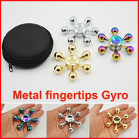 Rainbow Colors Finger Spinners gyro toys Алюминиевый цветной шестиугольник Hand Spinner EDC Toys Fidget Decompression Metal Fingers gyro toy gift