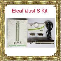 15pcs DHL Authentique Eleaf iJust S Kit avec capacité de la batterie 3000mAh et 4ml Atomiseur iJust S Compatiable avec la tête ECL 0.18ohm
