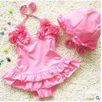 Summer Swimwear Baby Girls Sleeveless Bathing Suit Cute Flow...