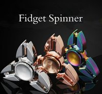 Crab Tri-spinner Mão Spinner Ziny Liga Triângulo Arco-íris Colorido Fidget Spinner Metal Descompactar Brinquedos Com Caixa De Varejo 3 Cores OOA1504