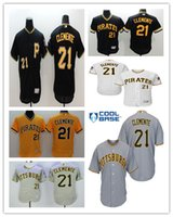 Stitched Flex Base Men Pittsburgh Pirates 21 Roberto Clement...