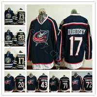 New Columbus Blue Jackets Hockey Jerseys 71 Nick Foligno 20 ...