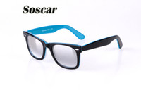 Soscar Double Color Plank Frame Gradient Glass Lenses High Q...