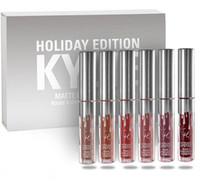Kit de brillo de labios de la edición del día de fiesta de KYLIE el kylie MATTE LÍQUIDO del labio lápiz labial mate kylie jenner colección fijó el regalo de la Navidad 1Set = 6pcs