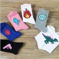 Bomb Baseball Mens Socks Harajuku Cool Skateboard Knitted Hi...