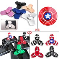 New Arrival Fidget Spinner Captain America HandSpinner Spider Man Finger Gyro Finger EDC pour décompression Toy Anxiety Hand Spinner