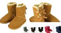 LIVRAISON GRATUITE 2017 L'hiver classique de NOUVELLE Australie de vente de vente d'usine initialise la vraie botte de chaussures des bottes de neige d'arc de bailey des femmes en cuir de Bailey Bowknot