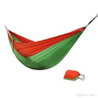 DHL que acampa que acampa la hamaca de parachoques al aire libre de la hamaca de la lona 270 * 135cm del paracaídas portable de la hamaca al aire libre 3 en 1 Envío libre