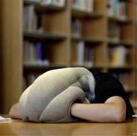 2017 Hot Sales almohada mini guante Creative Siesta almohadas almohada de avestruz para viajar almohada de avestruz multifunción una siesta