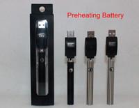 Bouton de la batterie de préchauffage Bouton réglable de la tension variable O-pen BUD 350mAh Stylo à vapeur 510 pour la cire CBD Huile de CO2