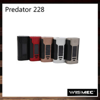 Wismec Predator 228 TC Mod 228W Firmware améliorable avec une batterie de batterie individuelle identifiable Conçu par Sinuous 100% Original
