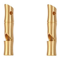 Brass High Decibel Emergency Rescue Whistle Holes High- frequ...