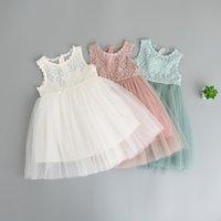 Everweekend Girls Lace Tutu Bow Dress Ruffles Summer Candy C...